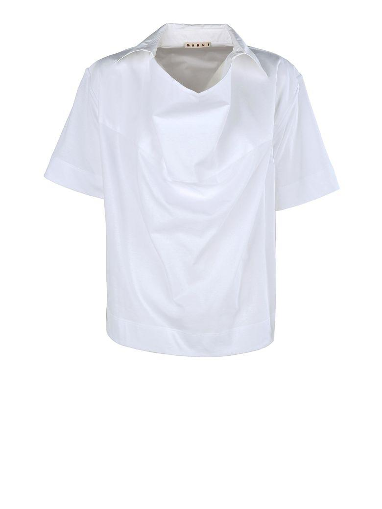 Marni Jersey Cotton T-shirt In White