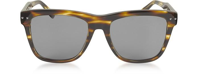 Bottega Veneta Bv0098s 002 Light Havana Acetate Frame Unisex Sunglasses