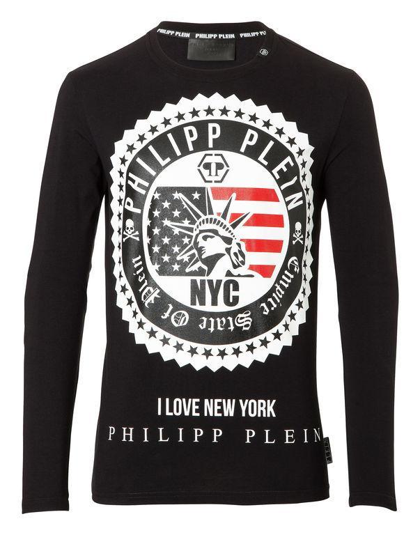 """Philipp Plein T-shirt Round Neck Ls """"strange"""""""