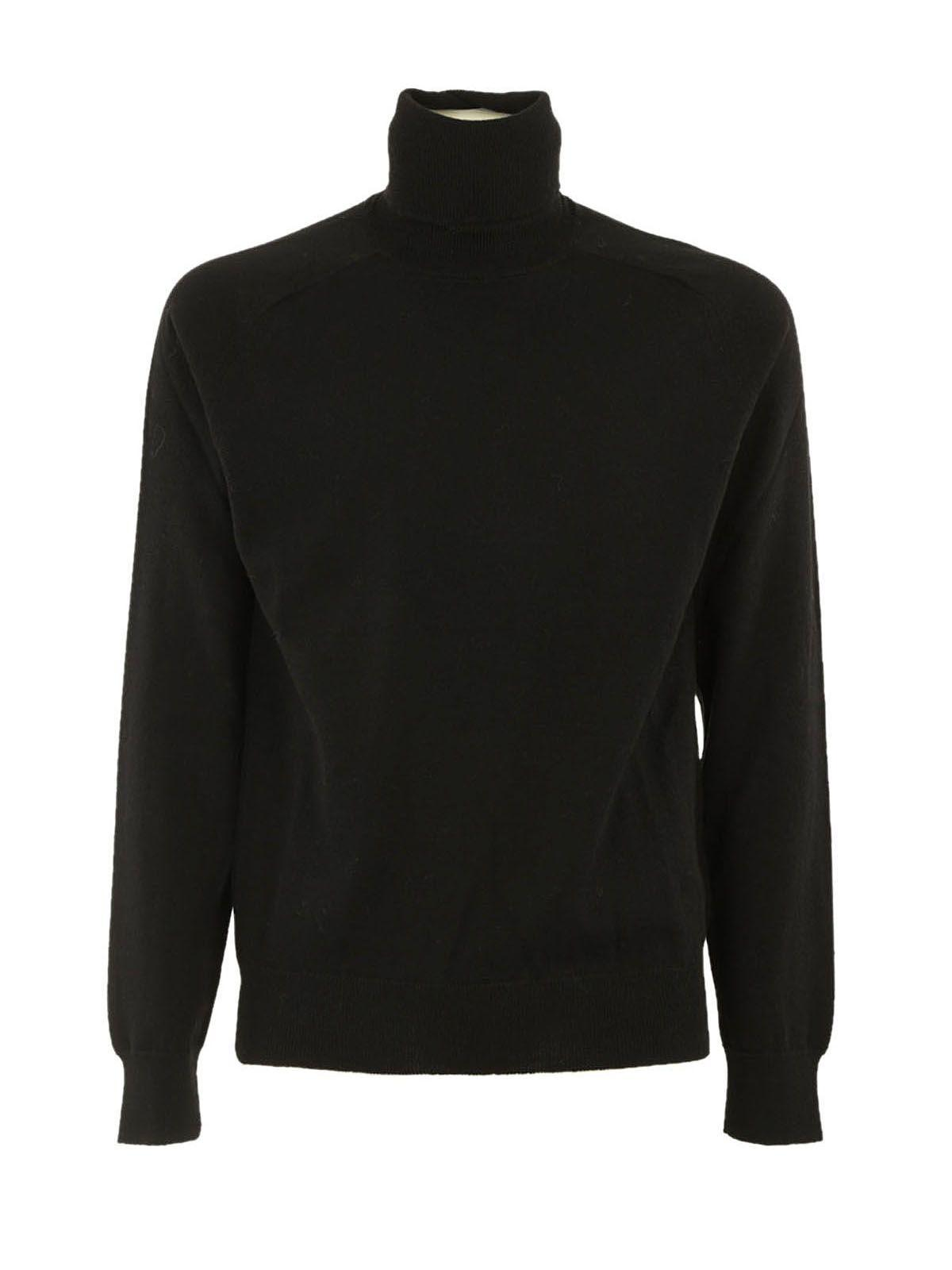 Ami Alexandre Mattiussi Ami Turtle Neck Sweater In Black