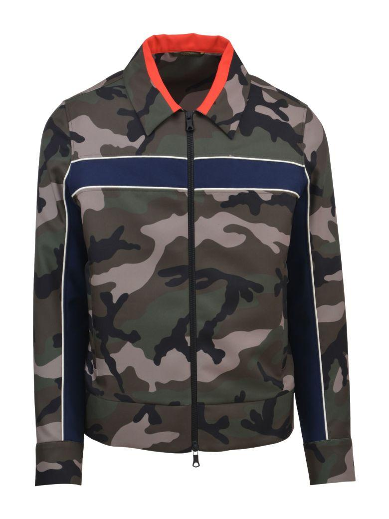 Valentino Camouflage Techno Jacket In Army