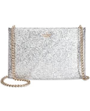 Kate Spade Wedding Glitter Shoulder Bag In Silver