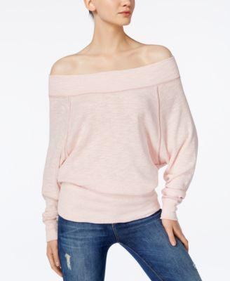 740238e5691938 Free People Palisades Off The Shoulder Top In Rose