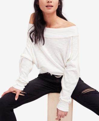 b309c05e6895d Free People Palisades Off The Shoulder Top In Ivory