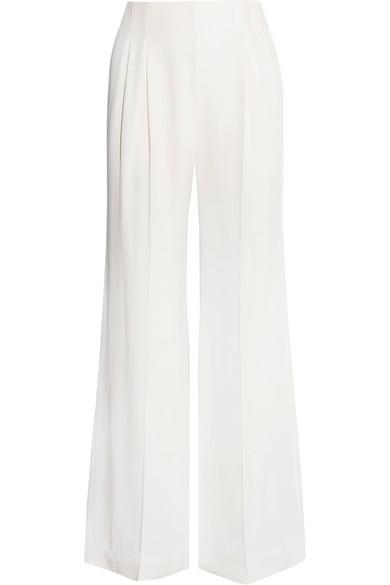 Emilia Wickstead Jos Satin-crepe Wide-leg Pants