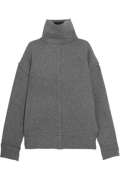 Frame Wool-blend Turtleneck Sweater In Dark Gray