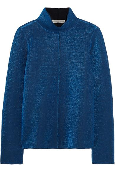 Golden Goose Diana Metallic Knitted Top In Blue