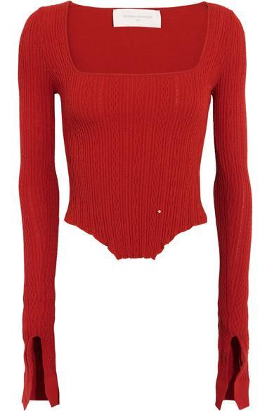 Esteban Cortazar Kira Asymmetric Stretch-knit Top