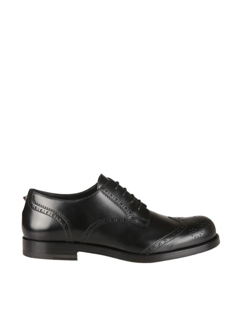 Valentino Garavani Derby Laced Up Shoes In Nero