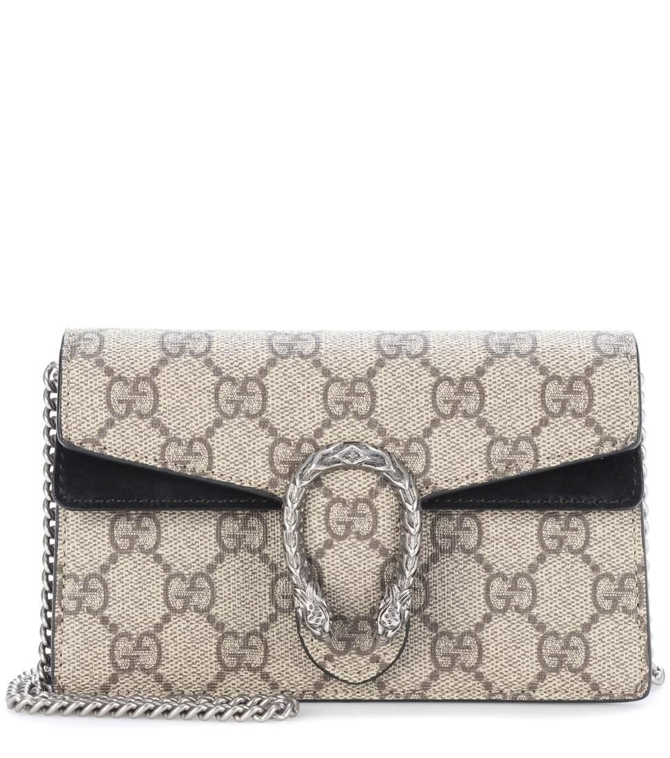a38c4b8d7c Gucci 's Dionysus Gg Supreme Super Mini Shoulder Bag In Leige Eloey ...