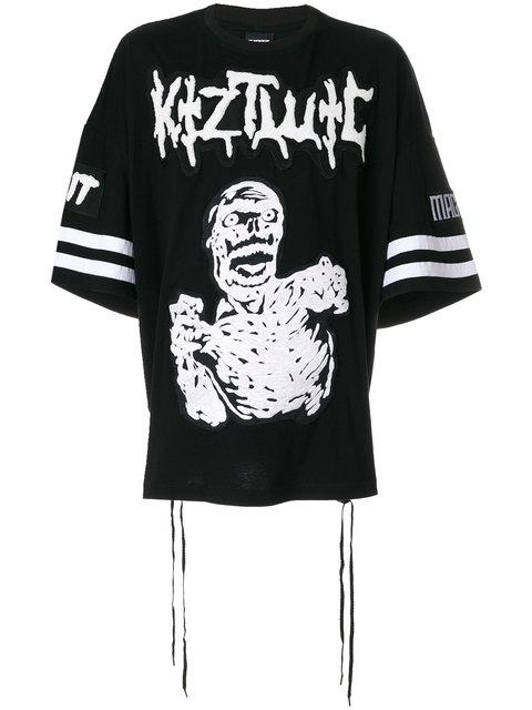 Ktz Zombie Embroidery T-shirt In Black