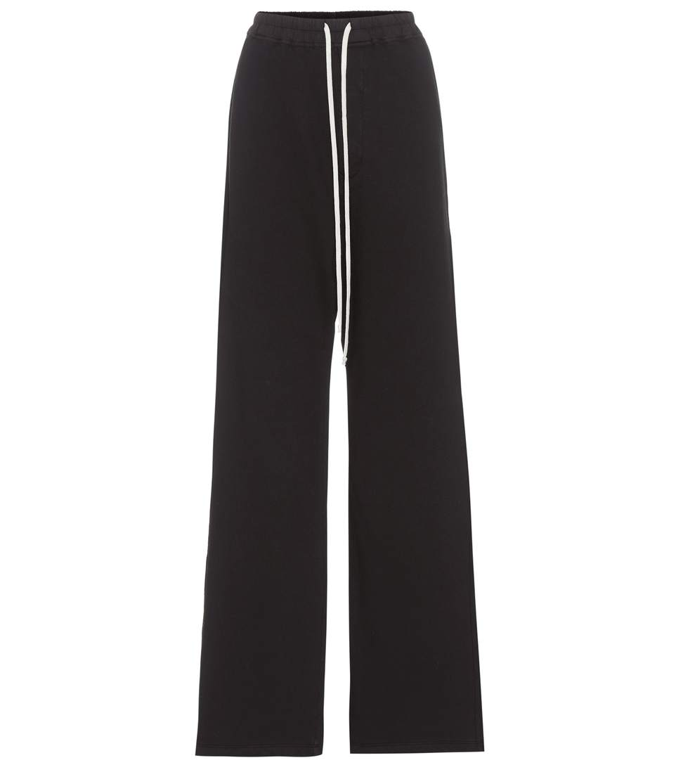 Rick Owens Cotton Track Pants In Black