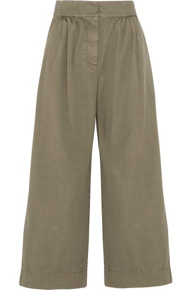 J.crew Kent Cotton Wide-leg Pants In Army Green