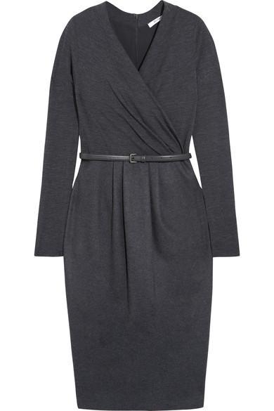 Max Mara Wrap-effect Wool-blend Dress