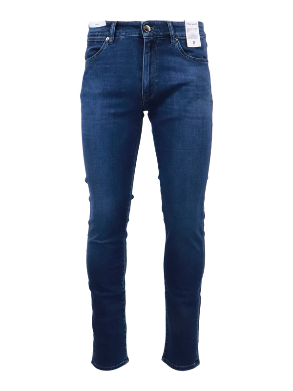 Pt Torino Denim Jeans In Blue In Dark Wash