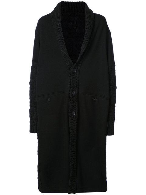 Yohji Yamamoto Single Breasted Coat In Black