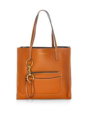 Marc Jacobs The Bold Grind East/west Leather Tote In Saddle