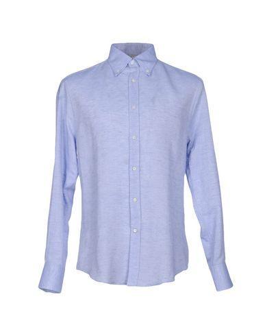 Brunello Cucinelli Linen Shirt In Azure