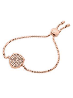Michael Kors Beyond Brilliant Pave Slider Bracelet In Rose Gold