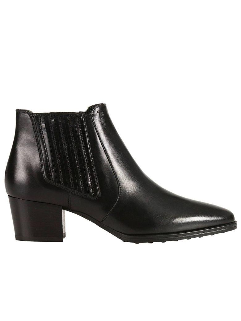 Tod's Heeled Booties Shoes Women Tods In Black