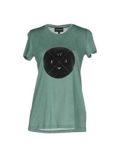 Emporio Armani T-shirts In Light Green
