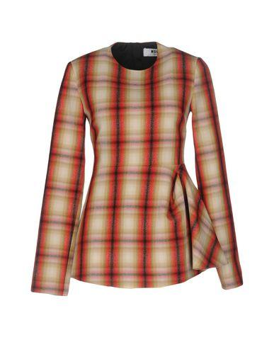 Msgm Checked Shirt In Red