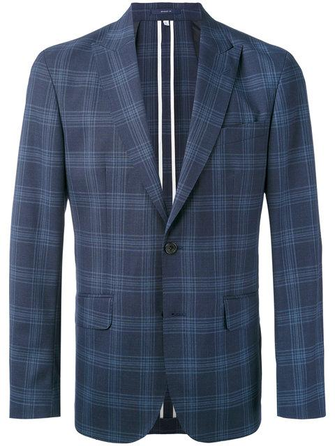 Hardy Amies Checked Blazer - Blue