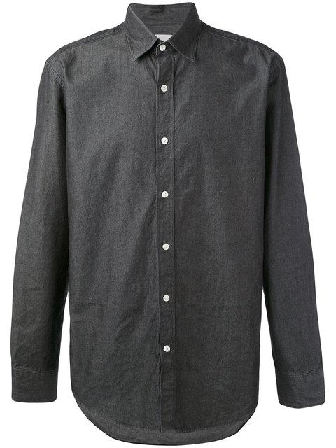 Hardy Amies Denim Twill Shirt - Grey
