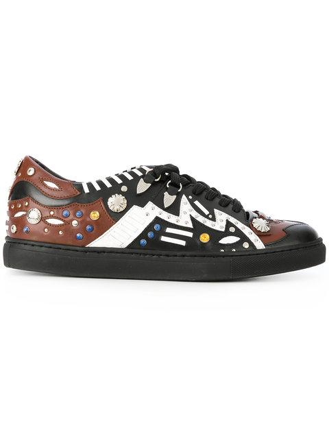 Toga Studded Lace Up Trainers