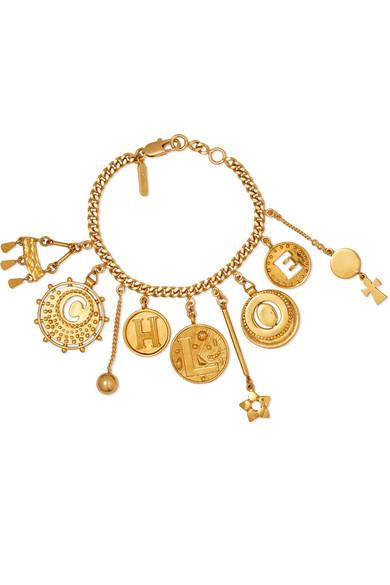 ChloÉ 'coins' Logo Charm Bracelet In Gold