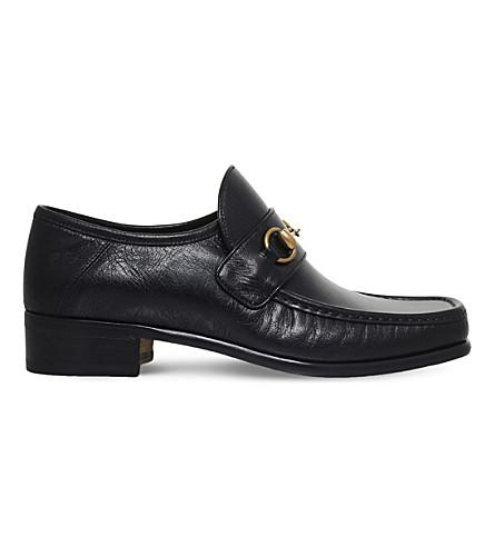 Gucci Vegas Leather Loafers In Black