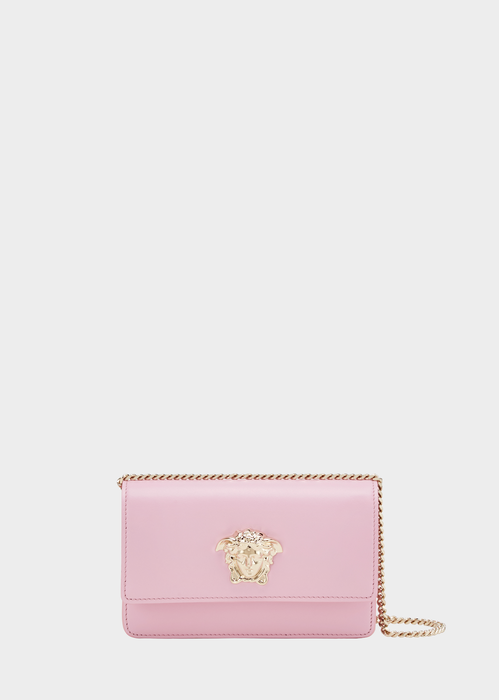 Versace Palazzo Evening Bag With Chain In Pink