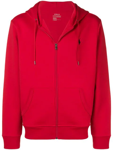 Polo Ralph Lauren Men's Big & Tall Double-Knit Full-Zip Hoodie In 031 Red