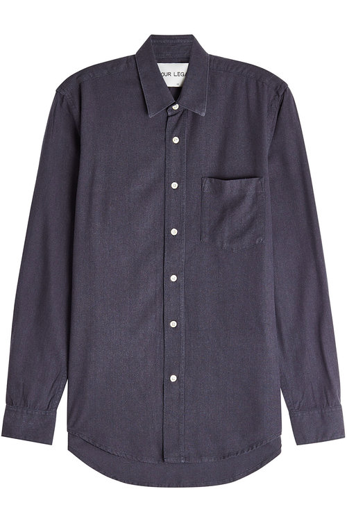 Our Legacy Silk Shirt In Blue