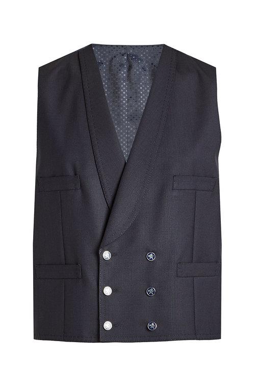 Dolce & Gabbana 3-piece Wool Suit Vest In Blue