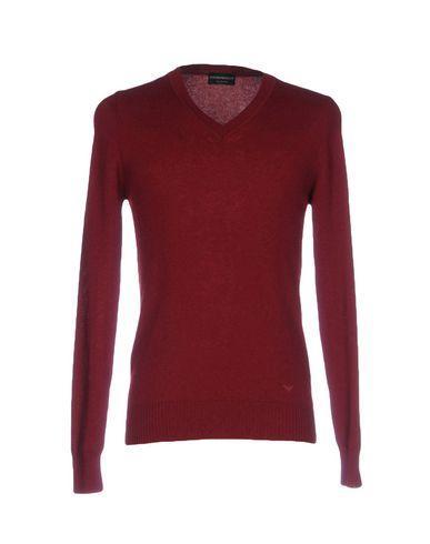 Emporio Armani Sweaters In Maroon