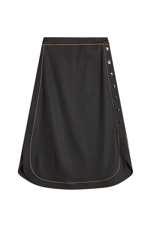 Vanessa Seward Virgin Wool Skirt In Black
