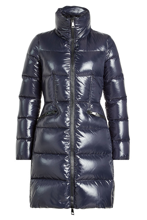 Moncler Jasminum Quilted Puffer Coat In Blue