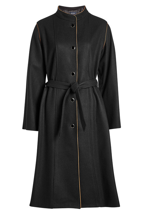 Vanessa Seward Wool Coat In Black