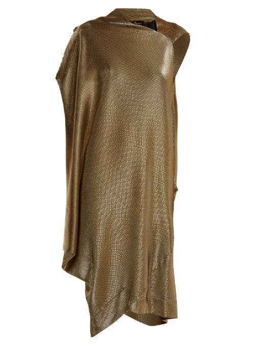 Vivienne Westwood Anglomania Squires Asymmetric Draped Dress In Gold
