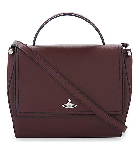 Vivienne Westwood Cambridge Leather Shoulder Bag In Bordeaux