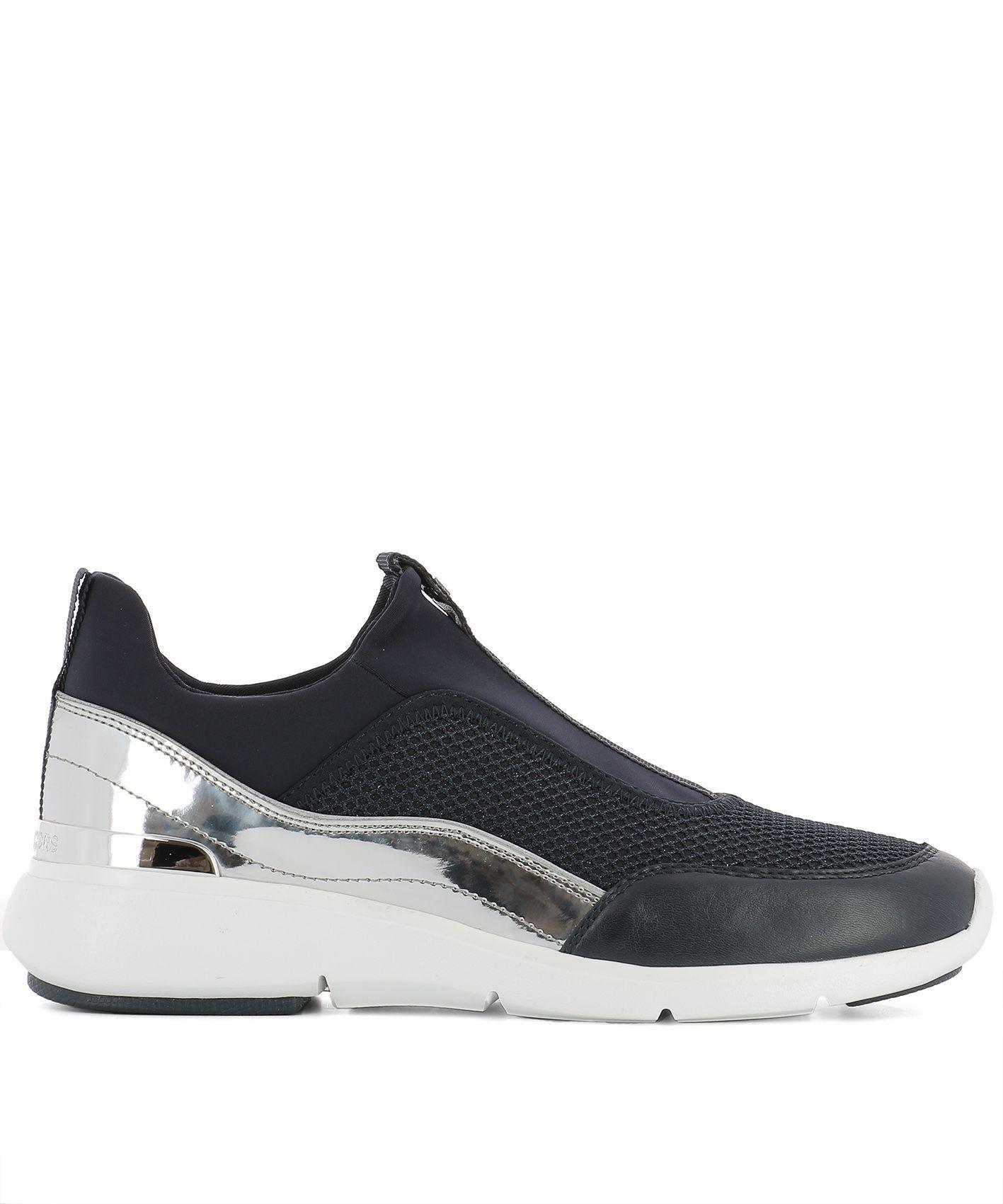 Michael Kors Blue Fabric Sneakers