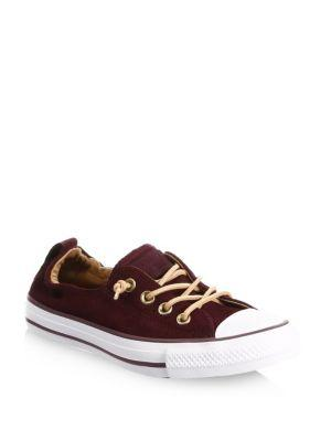 Converse Women's Chuck Taylor Shoreline Peached Canvas Casual Sneakers From Finish Line In Port