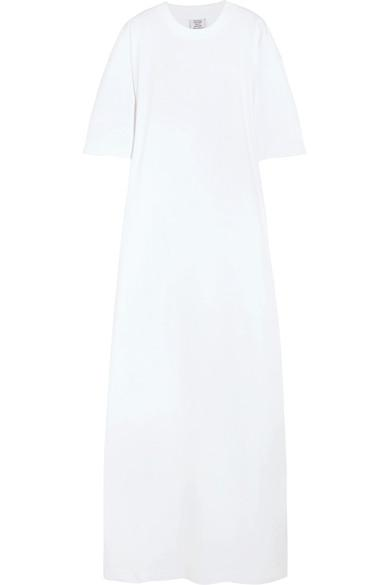 Vetements Oversized Cotton-jersey Maxi Dress In White