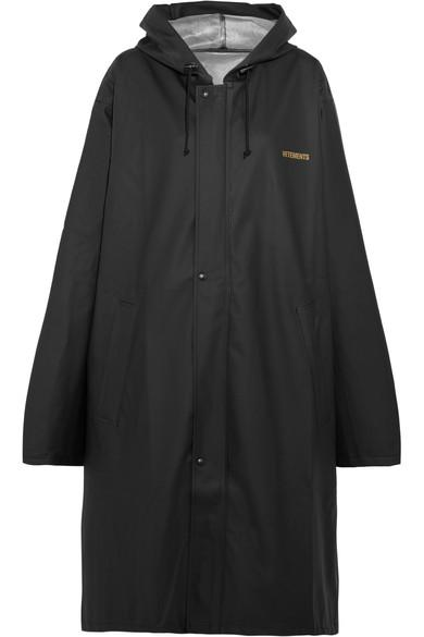 Vetements Pvc-coated Printed Shell Hooded Raincoat