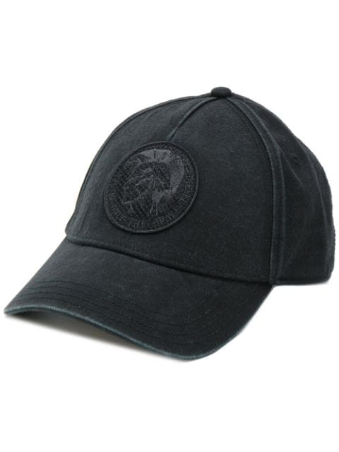 Diesel Logo Baseball Cap In Black