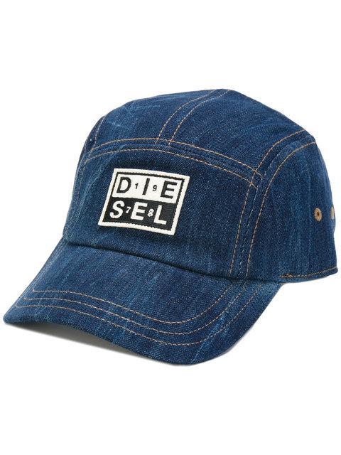 Diesel Denim Baseball Cap - Blue