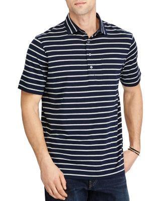 Polo Ralph Lauren Hampton Lisle Striped Classic Fit Polo Shirt In Aviator Navy