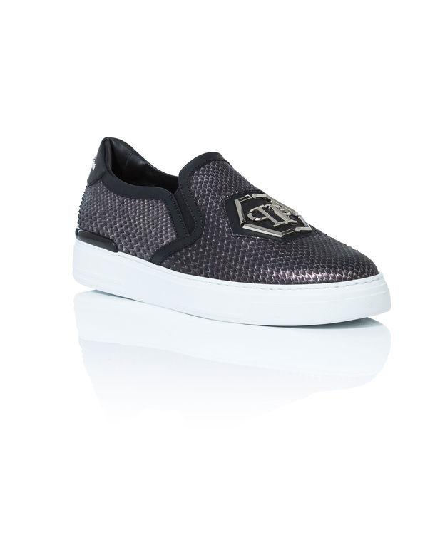"Philipp Plein Slip On ""skull Bronze"""