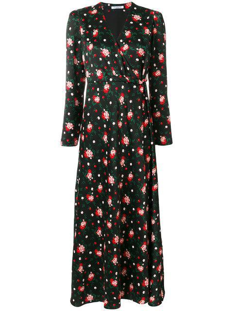 Vivetta Floral Print Dress In Black